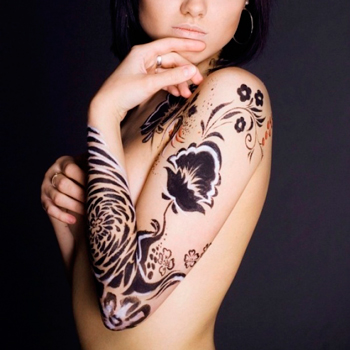 боди-арт на женском теле